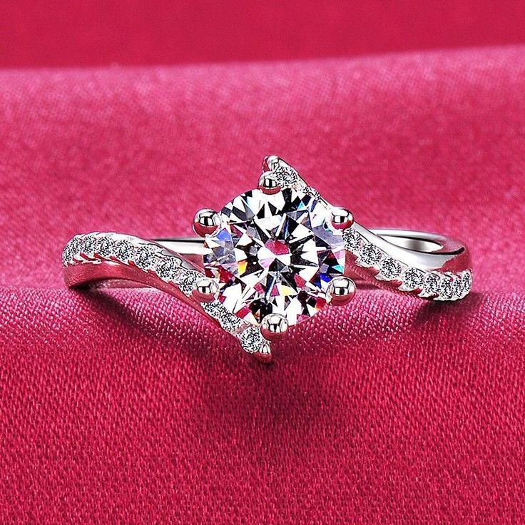 0.3 1.0 Carat Simulated Diamond Engagement/Wedding