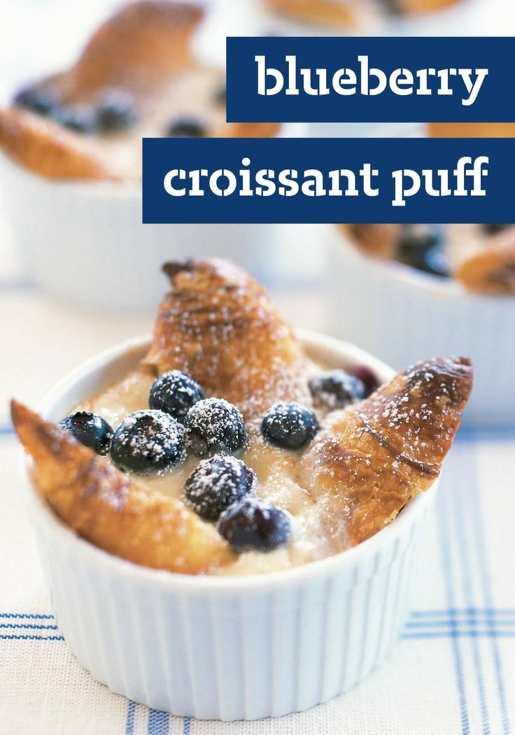 Blueberry Croissant Puff: Foodie, Croissant Puffs, Bread