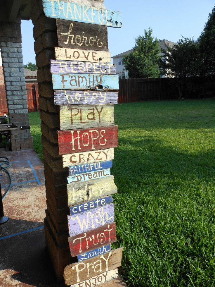 reclaimed fence pickets turned into Custom Painted Signs by Jez4U, $600.00