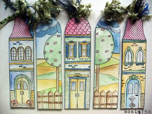 bookmarks fit for a fairy tale...via Melissa Fortenberry.
