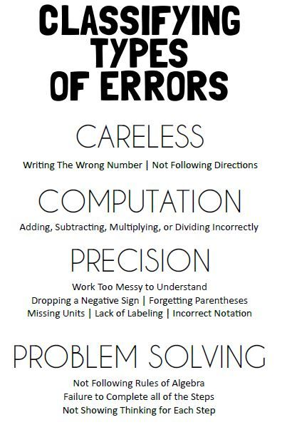 types of mistakes in writing