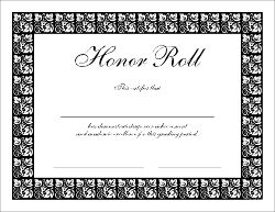 B honor roll the honor roll certificates are 8 5 x 11 for B honor roll certificate template