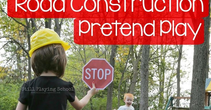 Pretend to be road construction workers to play a Stop & Go Game with your kids (and read why these games are developmentally important)