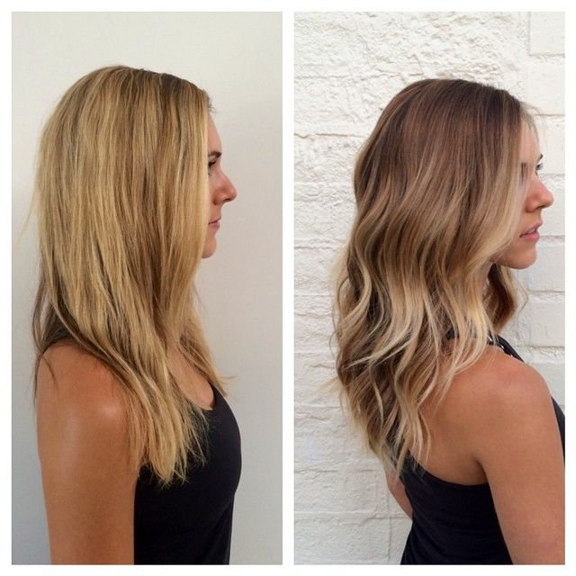 Bronde blonde balayage hair style subtle natural highlights