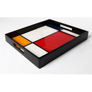 Plateau de service Mondrian modèle moyen