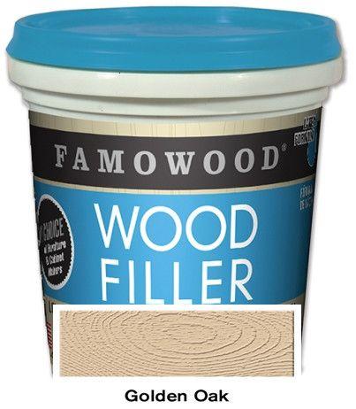 Famowood Latex Wood Filler Golden Oak 24oz 12/Case 40022152C