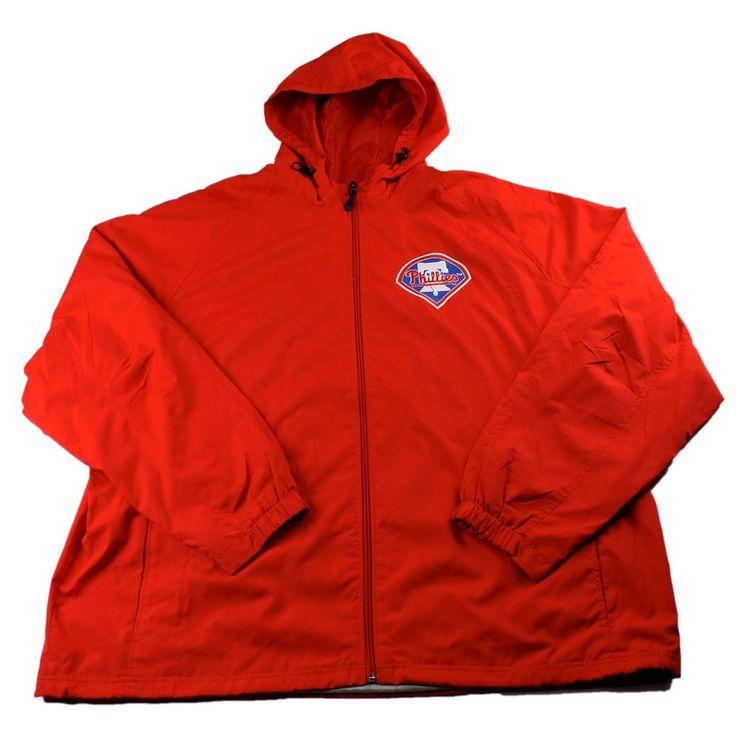 Philadelphia Phillies MLB Red Windbreaker Jacket Mens Sportswear Size 3XL XXXL