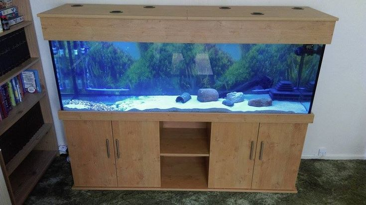 Tropical Aquarium 72x24x18 in Aintree Oak from Prime Aquariums.