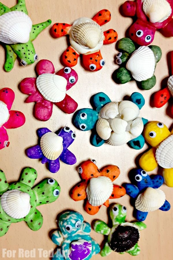 Salt Dough Sea Shell Turtles Red Ted Art Make Crafting With