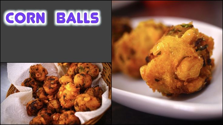CORN Balls - Crispy QUICK Snack | Fritters