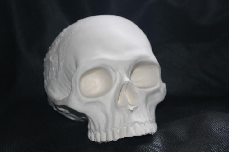Cráneo/ Calavera Texturizada Alcancía reutilizable en cerámica