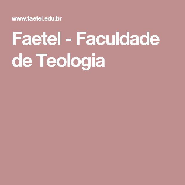 Faetel - Faculdade de Teologia