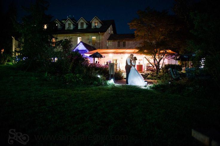 Brent & Jenna - BenMiller Inn - Nightime Bridal Portrait