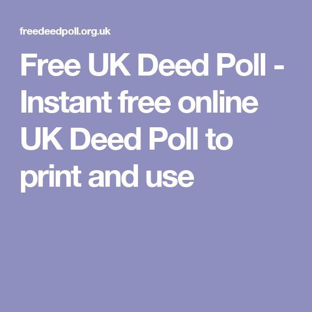 Best 25+ Deed Poll Ideas On Pinterest