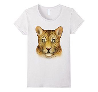 Amazon.com: Women's Leopard Shirt: Big Cat Art T-shirt - light version Small… #leopard #animals #wild #animal #love #cat #cats #zoo #rescue #graphic #art #tshirt #shirt #tee