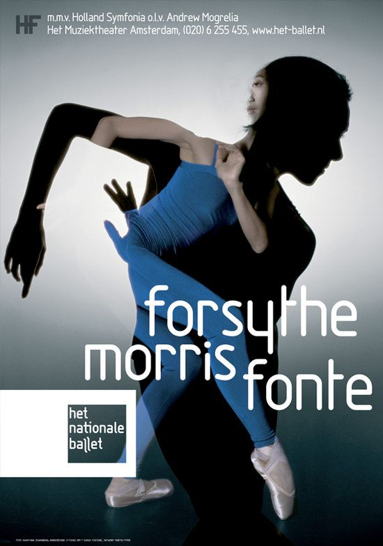 posters for the dutch national ballet by martin , via Behance