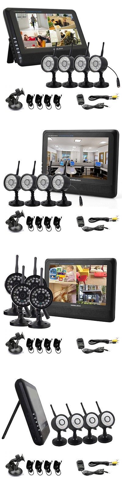 Security Cameras: Wireless Security Spy Camera System 4Ch Ir Nightvision Indoor Dvr Cctv 2.4Ghz BUY IT NOW ONLY: $163.99