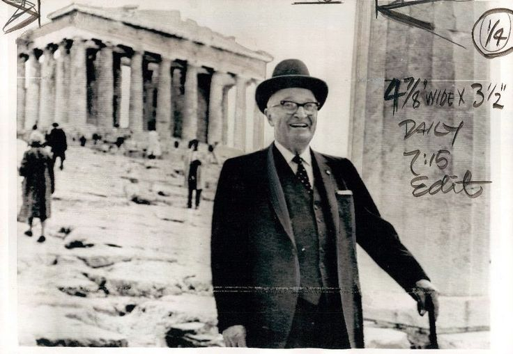 1964~ Harry Truman, the 33rd US President visiting the Acropolis of Athens