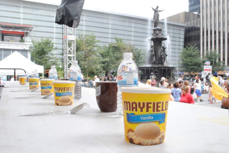 Fountain Square's Freaky Friday Series returns for one last freeze-tastic event! Thirty contestants will race to see who can finish a pint of ice cream in the fastest time. The winner takes home an ice cream scoop trophy and a year supply of Mayfield Ice Cream! August 17 from 12-1pm