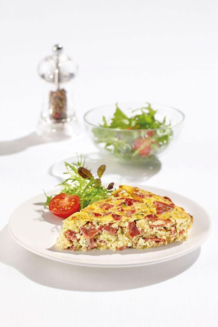 Salami & Zucchini Frittata: With DON® Salami