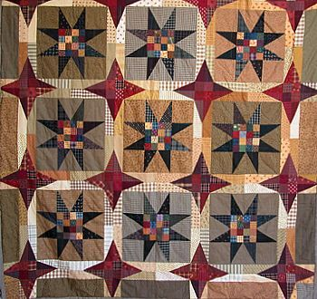 Primitive Quilt design with Applique explored in Quilt Pro by Lynda Hall