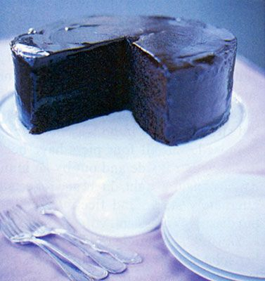 Double Chocolate Layer Cake Recipe | Epicurious.com