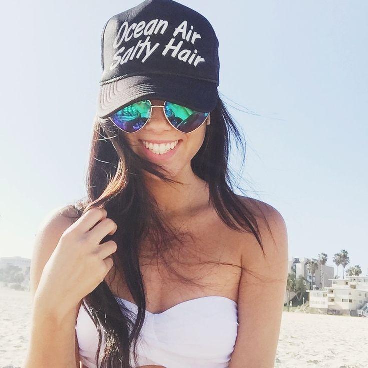 Ocean Air, Salty Hair Trucker Hat #LoveQTEE