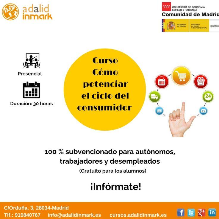 #Curso de Cómo potenciar el ciclo del #consumidor gratuito para #trabajadores del sector, #autónomos y #desempleados.