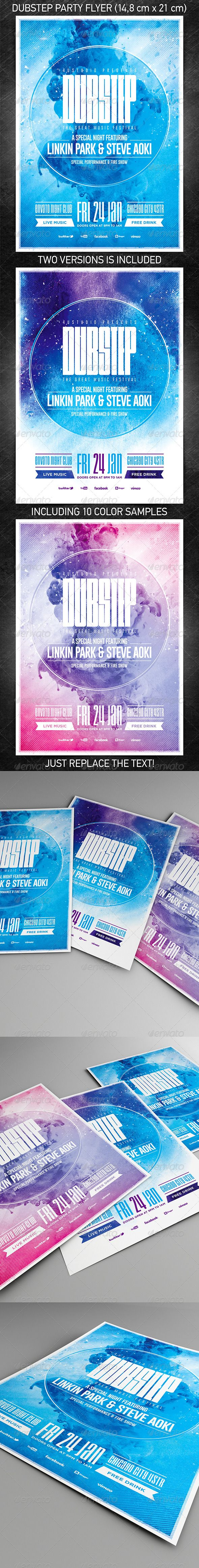 Dubstep party flyer mainstream music party flyer and for Mainstream house music