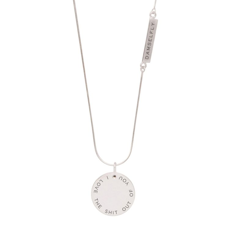 'Love You' Pendant from DAMSELFLY