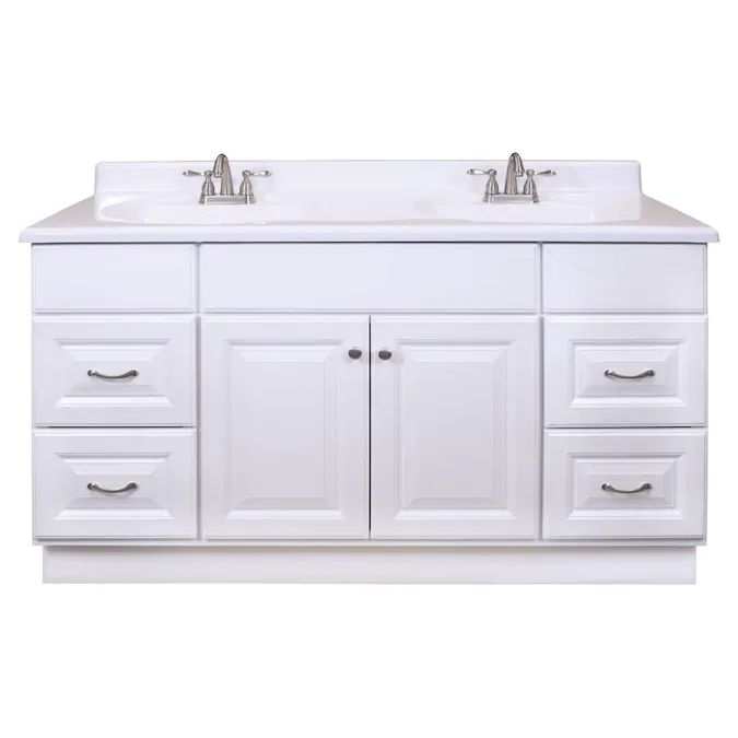 project source 60 in white bathroom vanity cabinet lowes on lowes vanity id=75640
