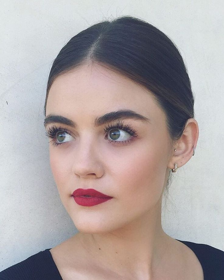 Lucy Hale's makeup looks flawless! We are loving that bold lip color!  | Pretty Little Liars Hair & Makeup