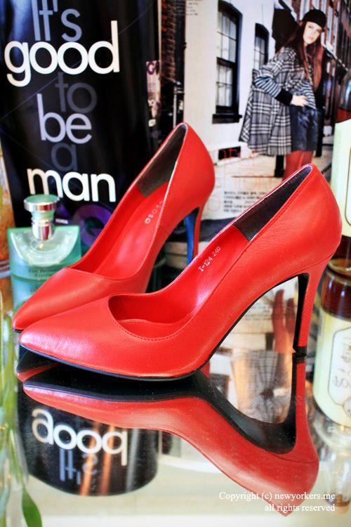 Factory Outlet 2013 осень новых корейских туфли на высоком каблуке Указал покупке свадебные туфли красные туфли 8375 - Taobao