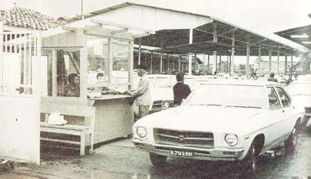 Opel, one of only 2 first cars at a taxi company, Chandra taxi, that would later become Blue Bird taxi at Jakarta | c. 1965