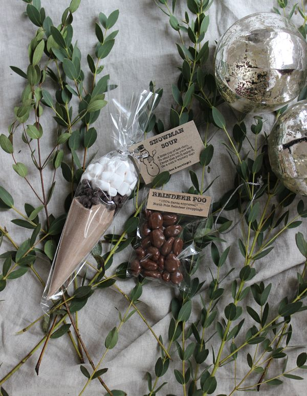 Easy homemade stocking fillers - snowman soup and reindeer poo   Growing Spaces