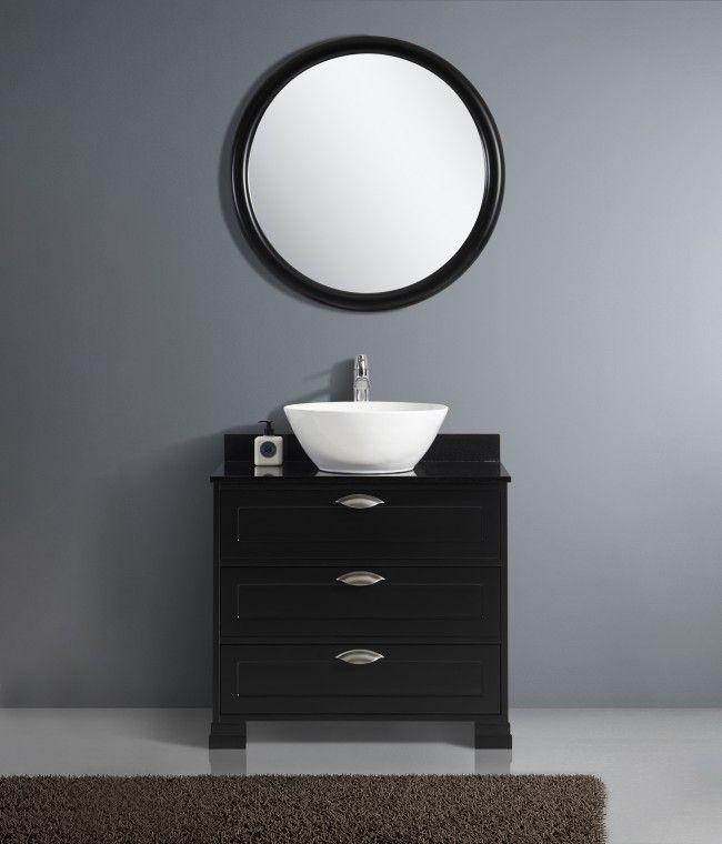 Beatrice svart 80 cm Spegel