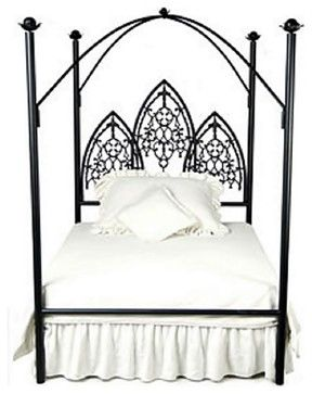 Custom Twilight Vampire Canopy Bed, Queen - eclectic - Canopy Beds - One Hudson Road