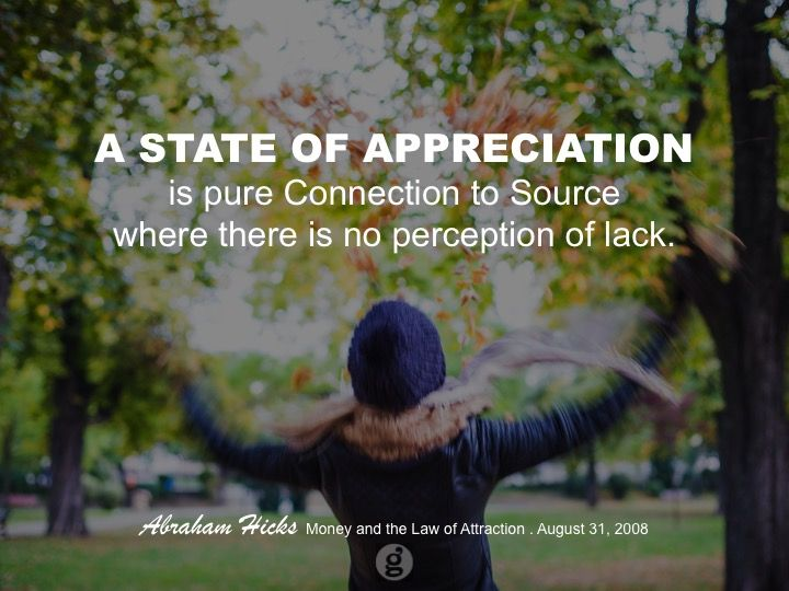 appreciation = love! highest vibration. align to that!!! whoo-hoo, yeah!