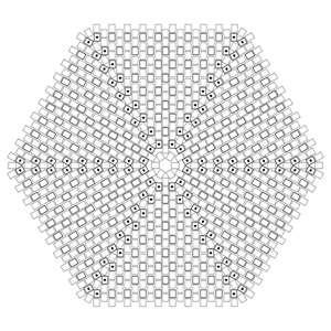 Peyote hexagon paper to print