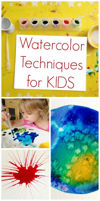 Easy and fun watercolor techniques to try with your kids!