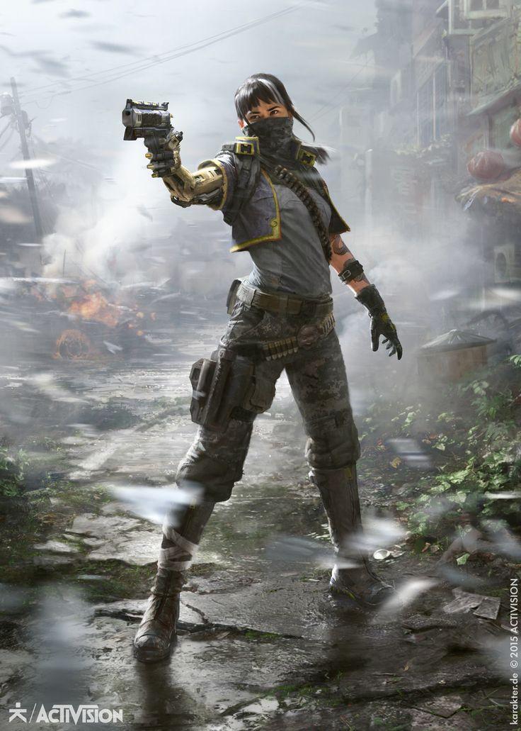 Black Ops III - Gunslinger, karakter design studio on ArtStation at https://www.artstation.com/artwork/0EdyE