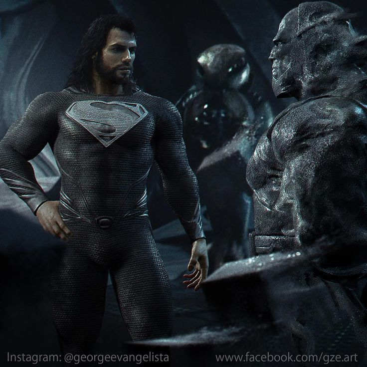 Digital artist George Evangelista is back with another round of DCEU fan art which features a Black-suit Superman leading a Justice League that also features Martian Manhunter and two Green Lanterns.