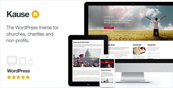 Kause v1.0.43 - супер гибкая адаптивная тема WordPress, предназначенная для церквей, благотворительных организаций, спортивных клубов и некоммерческих сайтов.
