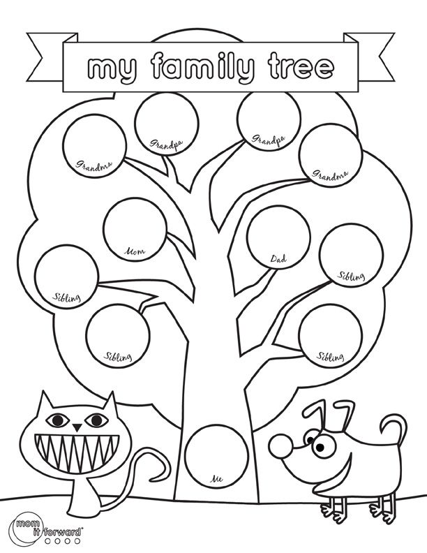 Help your kids fall in love with family history. Print off the family tree printable and let them fill in the circles with the names of their ancestors.