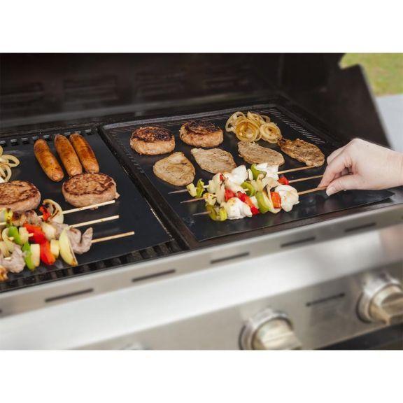 2 Pack Copper Bbq Grill Mat Reusable Nonstick Barbecue Grilling Mat Bbq Grill Mats Bbq Grill Grill Mats