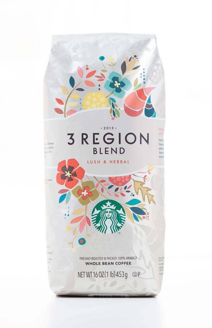 starbucks 3 region blend / the dieline packaging design