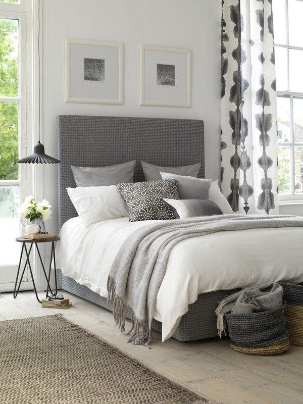Las 25 mejores ideas sobre cama gris en pinterest y m s - Decoracion pared dormitorio ...