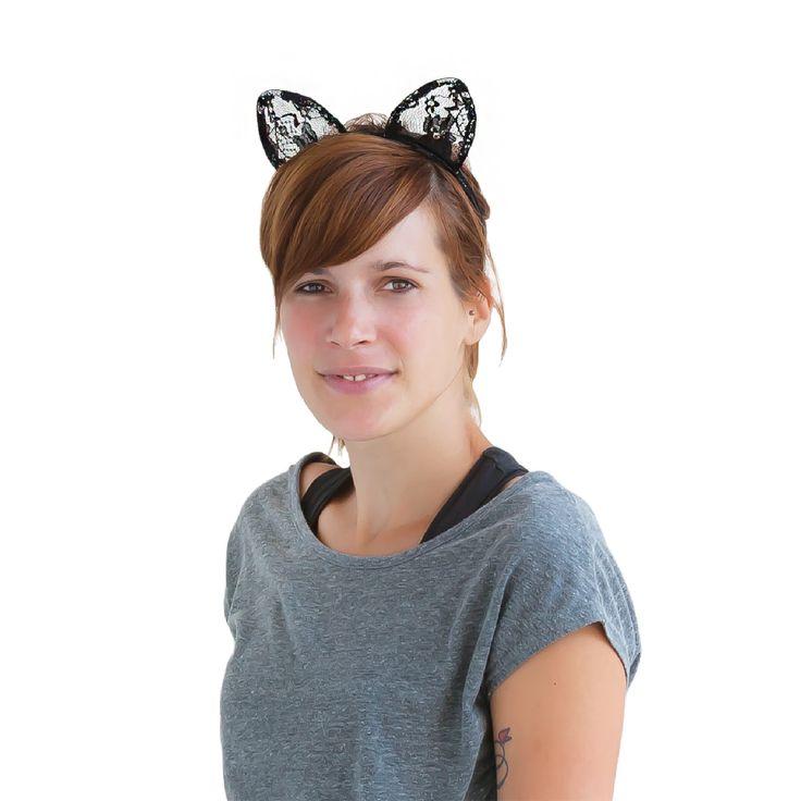 Haarreif Haarreifen Katzenohren Kostüm Fasching Karneval in Feierlichkeiten / Anlässe   • Karneval Fasching Party • Haarreifen