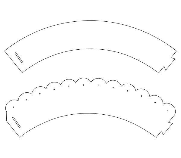 Vibrant image regarding printable cupcake wrappers templates