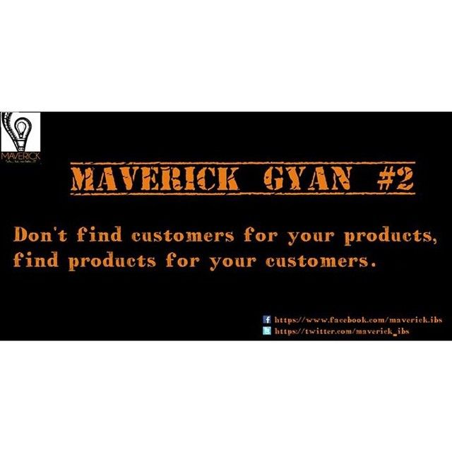 #maverickgyan #customers #productmktng #innovativeselling